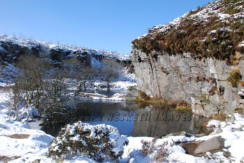 DESCRIPTION Haytor Quarry is a hidden Dartmoor gem. LOCATION Haytor, Dartmoor.  KEYWORDS Snow, winter, Haytor, Dartmoor. edited-1